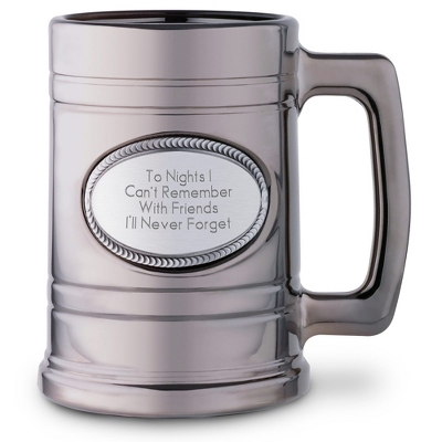 Engraved Glass Beer Mug