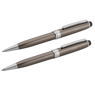 Reflections Premier Gunmetal and Silver Pen and Pencil Set