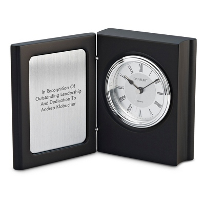 Black Matte Book Clock