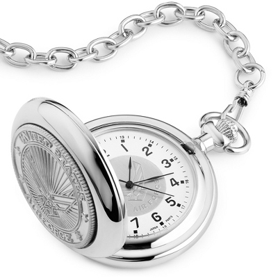 Air Force Coin Pocket Watch - Men's Jewelry