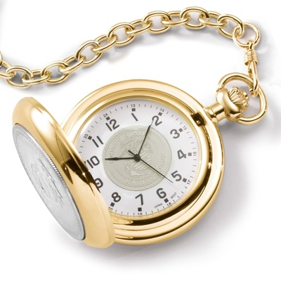 Marine Corps Coin Pocket Watch