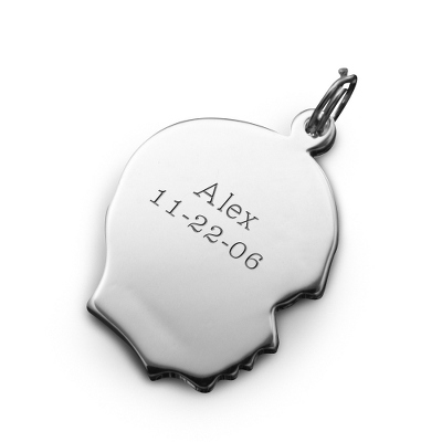 Sterling Silver Boy's Silhouette Charm - Baby GIfts