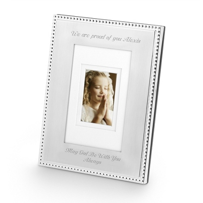 Portrait Silver Beaded 5 x 7 Frame - $22.50