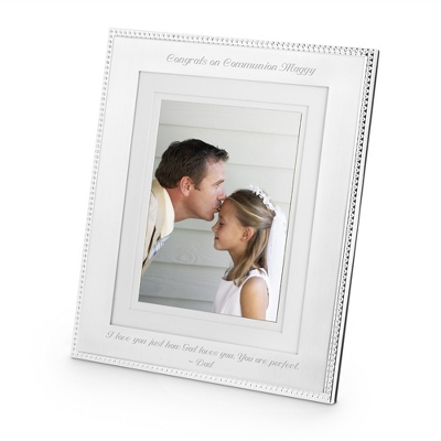 Portrait Silver Beaded 8 x 10 Frame