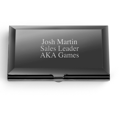 Personalized Polished Gunmetal Card Case by Things Remembered