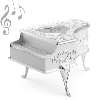 Engraved Silver Music Box