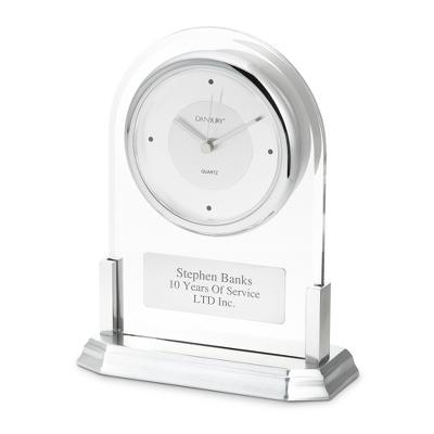 Silver Acrylic Clock