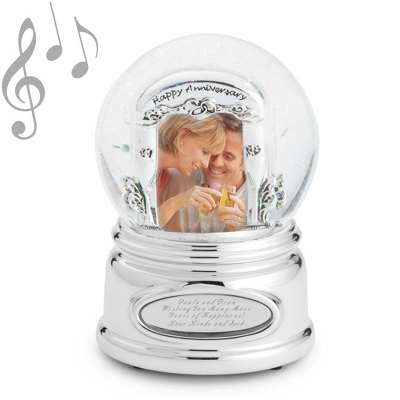 Anniversary Photo Musical Snow Globe