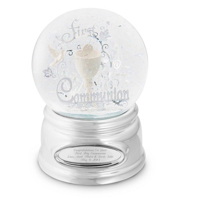 First Communion Snow Globe
