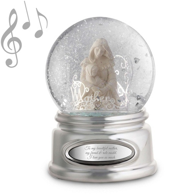 Mother and Child Musical Water Globe