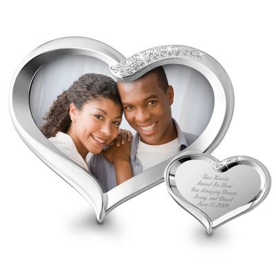Double Heart Wedding Picture Frame