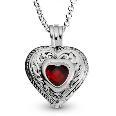 Personalized Heart-Shaped Birthstone Necklaces