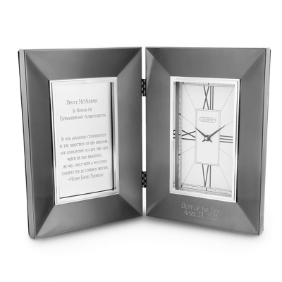 Symphony Gunmetal Hinged Clock - Home Clocks