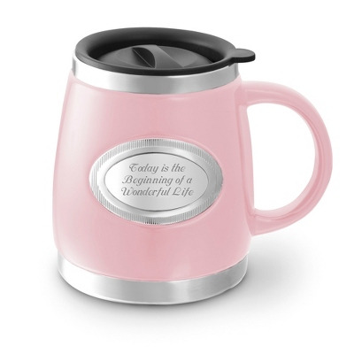 Pink Double-Walled Mug - $19.99