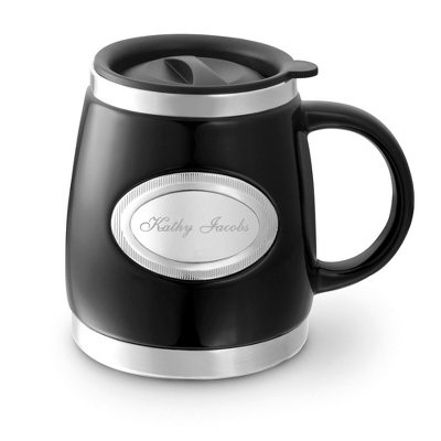 Black Double-Walled Mug