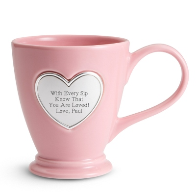 Heart Coffee Mug - Drinkware for Her