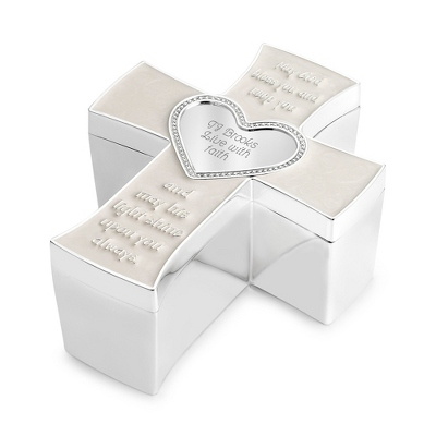 Baby Cross Keepsake Box