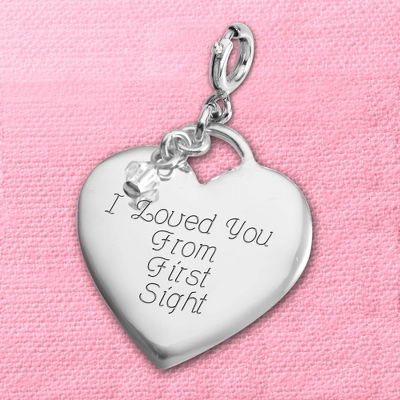 Engraved Heart Charms