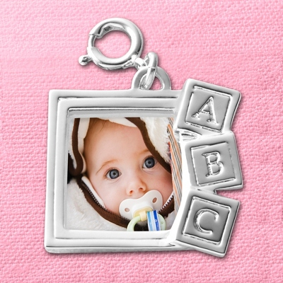 Baby Block Photo Charm - UPC 825008179660