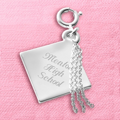 Graduation Cap Charm - Grad Gifts for Her