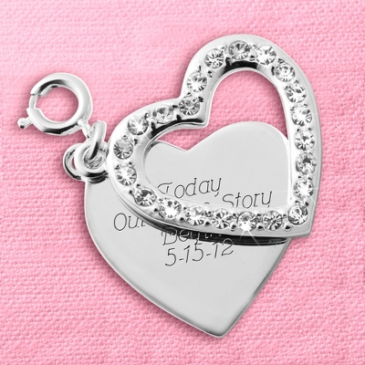Pave Swing Heart Charm