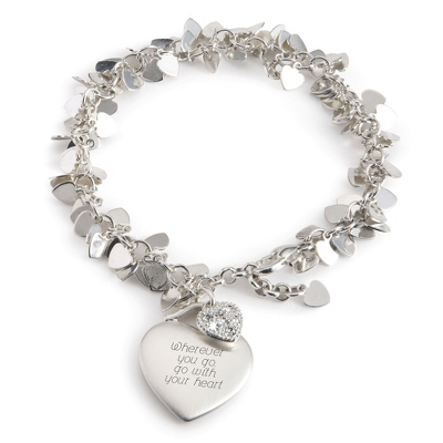 Heart Flutter Bracelet with complimentary Filigree Keepsake Box