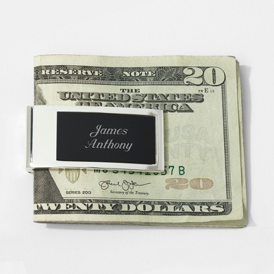 Personalized Black Matte Money Clip by Things Remembered