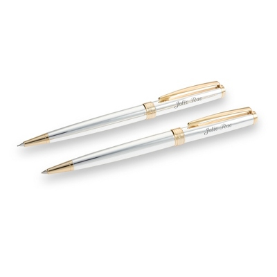 Reflections Silver and Gold Pen and Pencil Set - UPC 825008179059