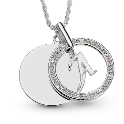 Initial Swing Necklace
