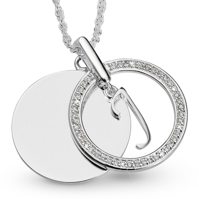 Initial J Swing Necklace with complimentary Filigree Keepsake Box