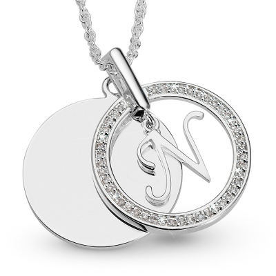 Initial N Swing Necklace with complimentary Filigree Keepsake Box