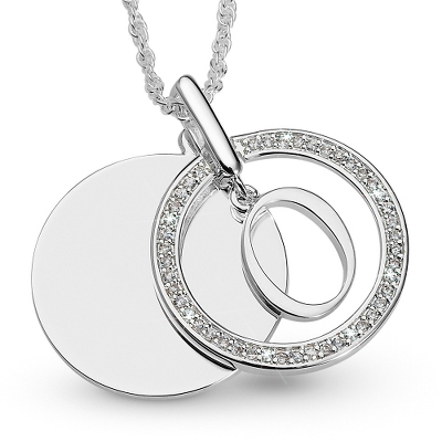 Silver Personalized Necklace for 2 Names