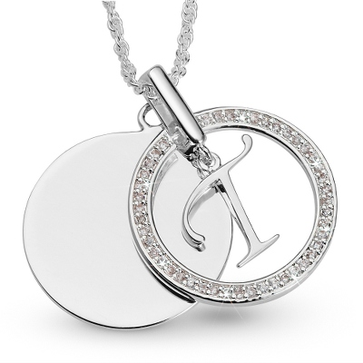 Initial T Swing Necklace with complimentary Filigree Keepsake Box - UPC 825008177604