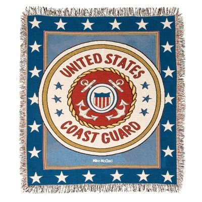 Coast Guard Tapestry Throw - Military