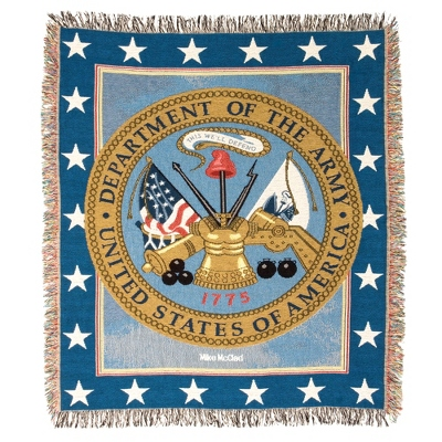 Army Tapestry Throw - Military