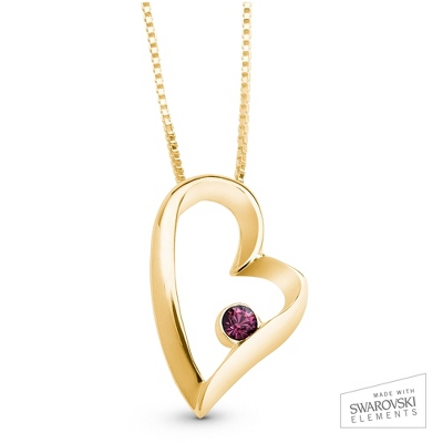 Gold Chain Birthstone Necklace