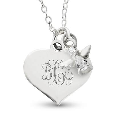 Girl's April Birthstone Necklace with complimentary Filigree Heart Box