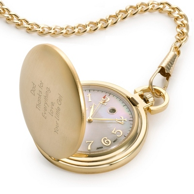 Gold Pocket Watch - UPC 825008181601