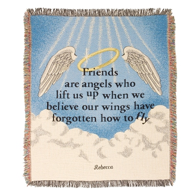 Friends Are Angels Throw