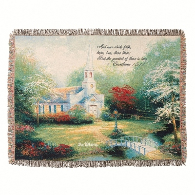 Thomas Kinkade Chapel Throw - $45.00