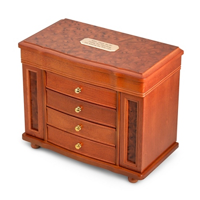 Burl Wood Jewelry Box - Jewelry & Keepsake Boxes