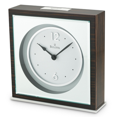 Bulova Modern Square Clock - Clocks for Him