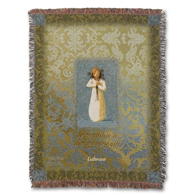Friendship Angel Throw