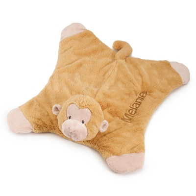 Personalized Gund Monkey Comfy Cozy Blanket