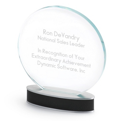 Round Glass Award