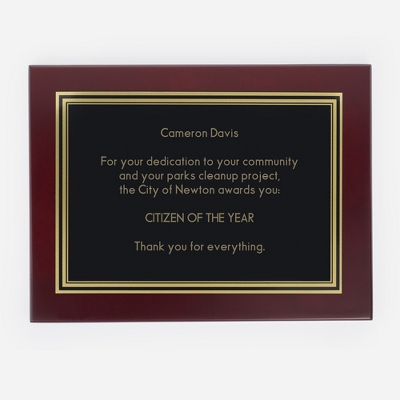 Engraved Personalized Plaques
