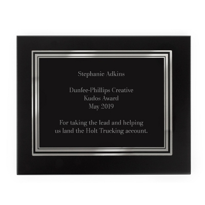 Silver Engraved Plaque