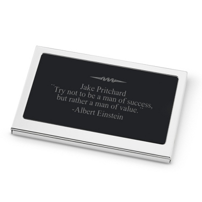 Engraved Business Card Holder for Men