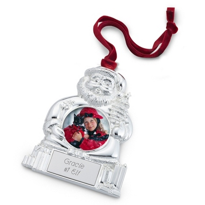 Santa Photo Ornament