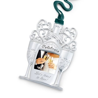 Silver Personalized Christmas Ornaments